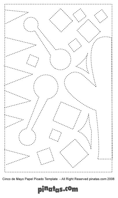 How to make a fiesta star pinata free pinata templates for Papel picado template for kids
