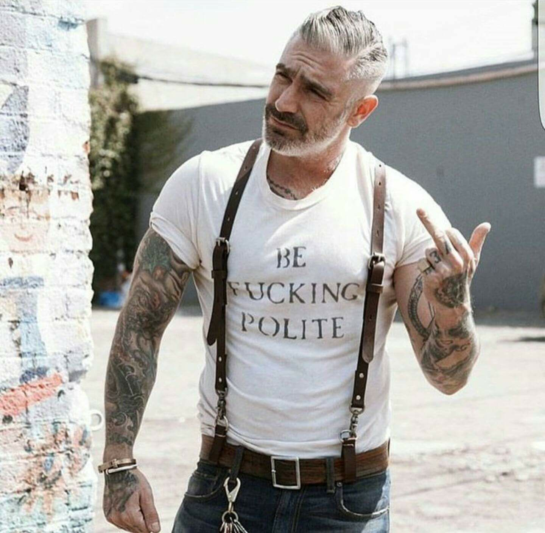 Haircuts for older men pin by jean pierre ducharme on homme tatouė  pinterest