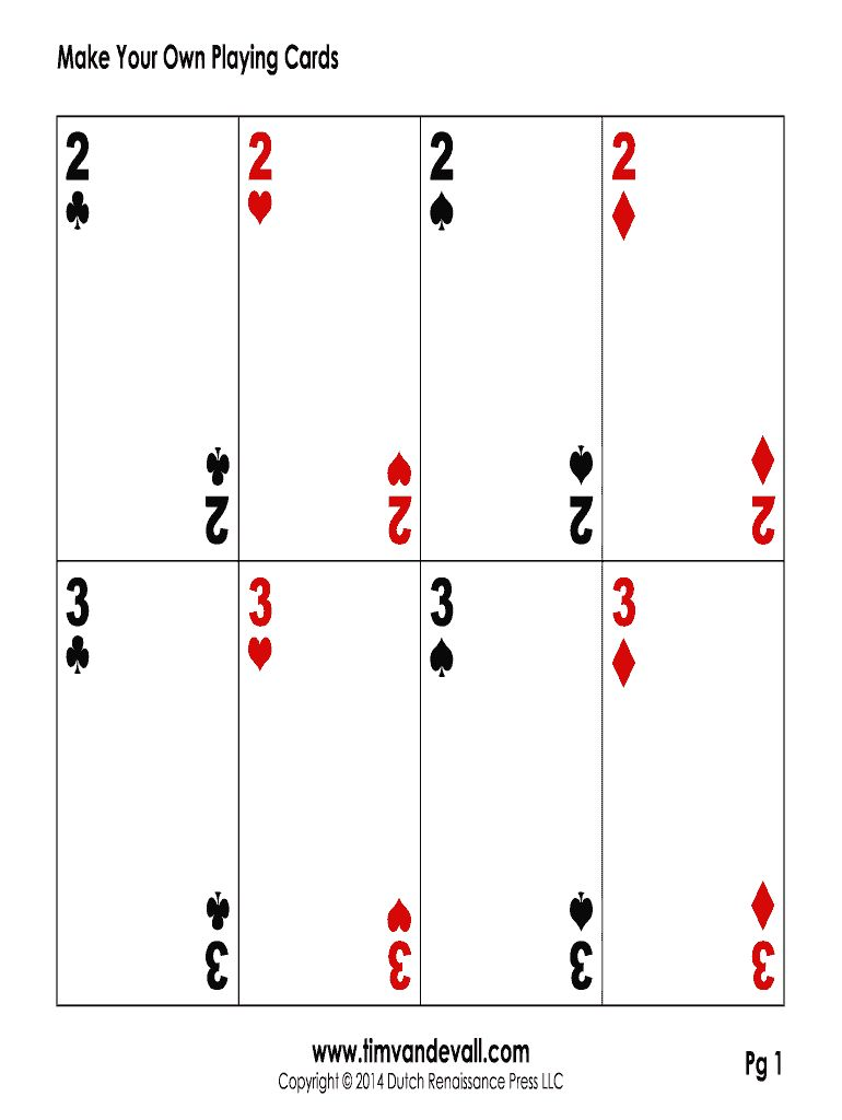 Editable Playing Card Template - Fill Online, Printable within Playing Card Template Word … in ...