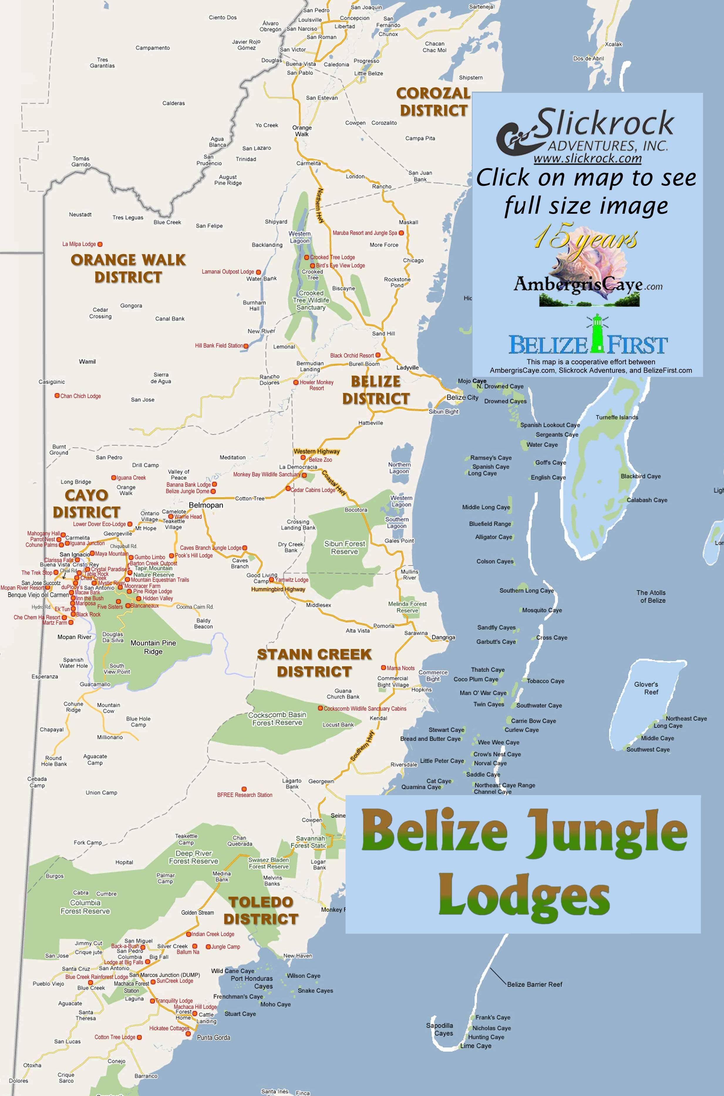 Belize jungle lodges map belize pinterest lugares belize jungle lodges map gumiabroncs Image collections