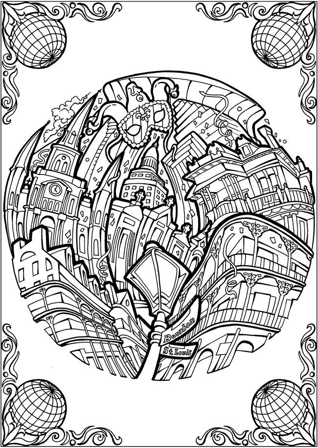 new orleans coloring pages - photo#21