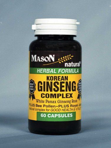 3 Pack Special Of MASON NATURAL KOREAN GINSENG COMPLEX CAPSULES 60 Per Bottle