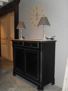 meuble ancien laqu noir patin et et vieilli decapados pinterest meubles anciens. Black Bedroom Furniture Sets. Home Design Ideas