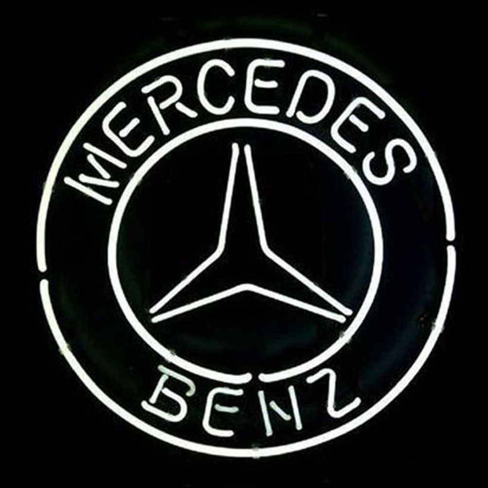 Big Mercedes Benz Logo Eu Auto Car Dealer Pub Display Store Neon - Car signs logoscar logos can be signs because they tell you something about that