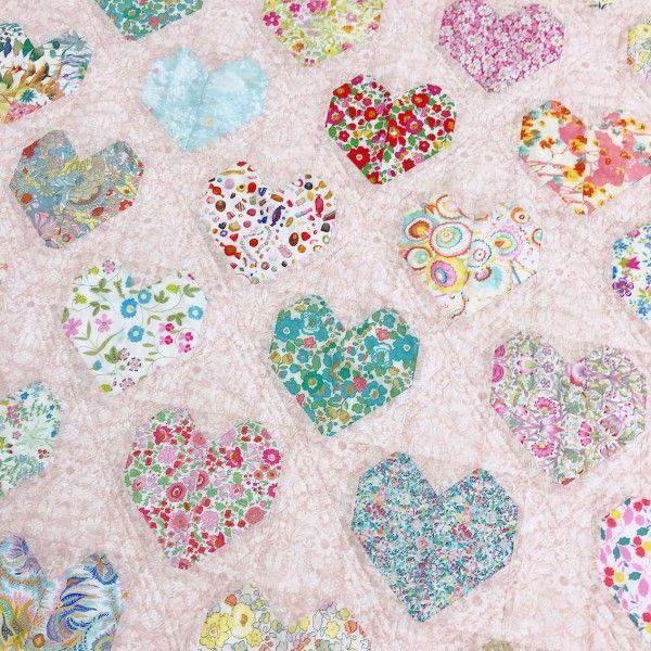 Free Tutorial - The Strawberry Thief - Love Liberty Quilt - Fabric ... : quilting fabric kits - Adamdwight.com