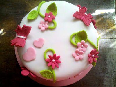 Gateau Pate A Sucre Fleurs Gateaux Pinterest Cake Desserts Et