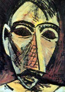 cabeza de hombre, picasso, 1907