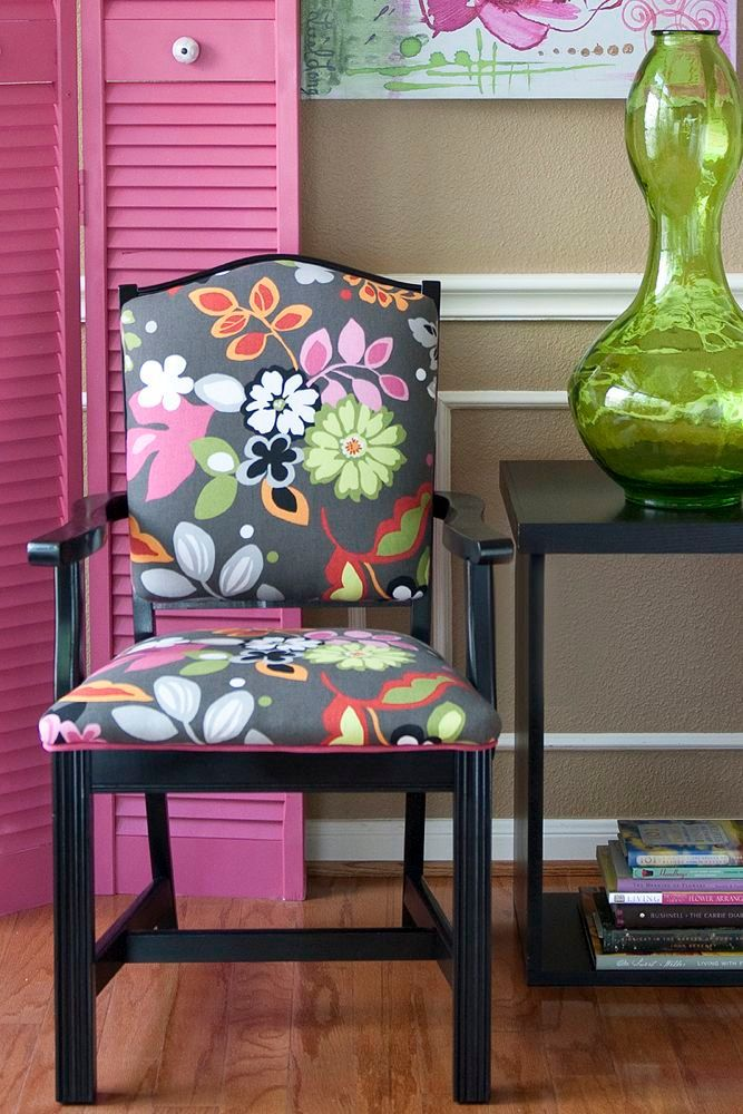 Best Accent Chair In Bright Floral 250 00 Via Etsy 400 x 300