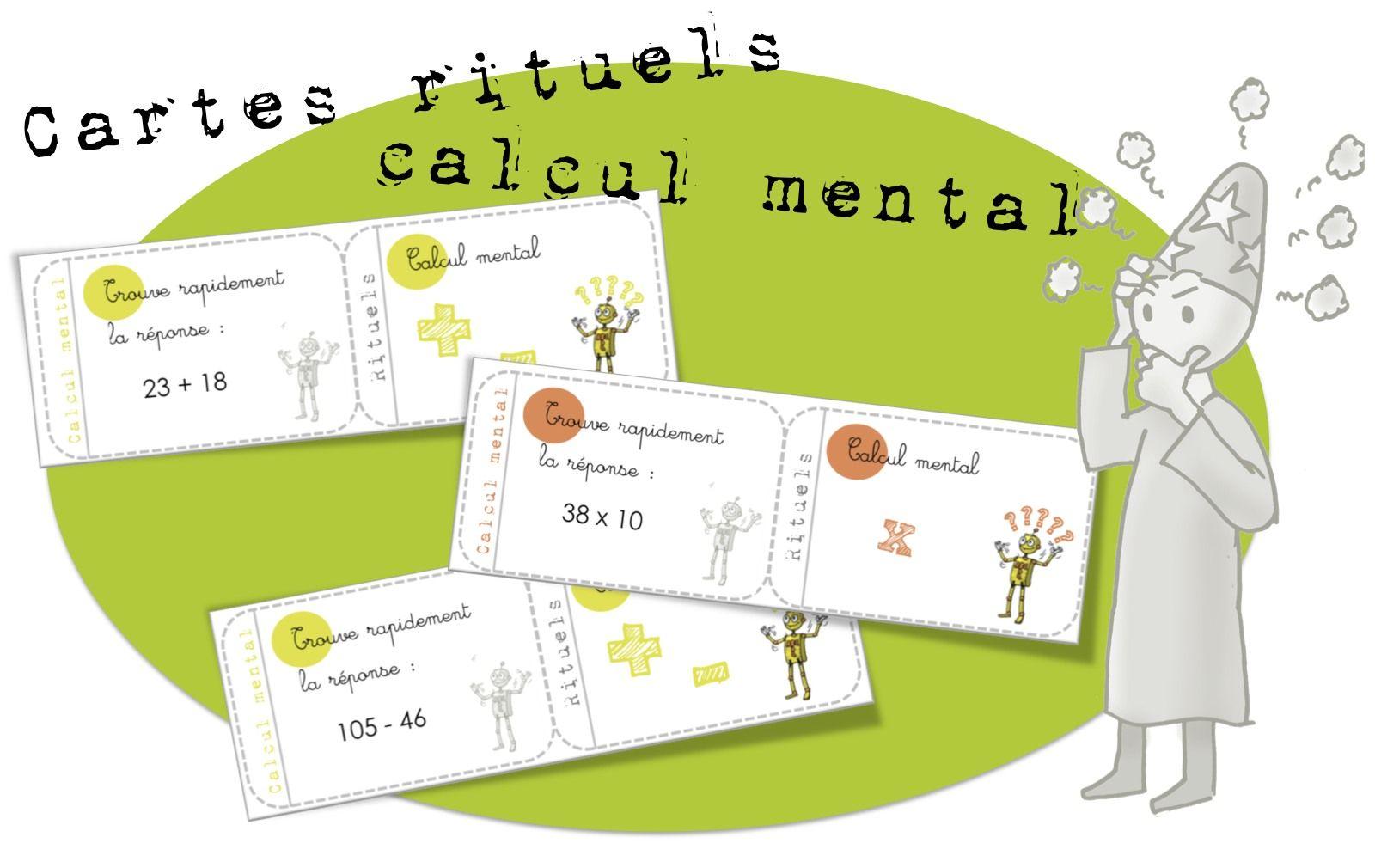 Cartes rituels calcul mental addition multiplication for Multiplication cm1 en ligne