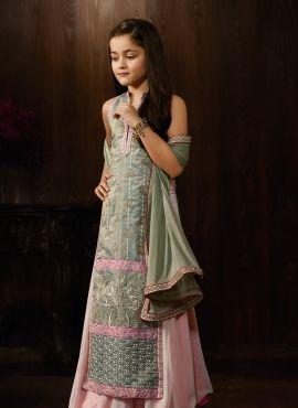 ac39d0c87a Birthday Wear Cute Indowestern Lehenga Suit For Little Girl | girls ...