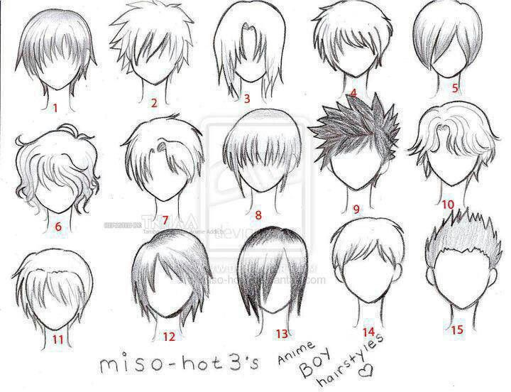 how to draw wavy hair on a boy