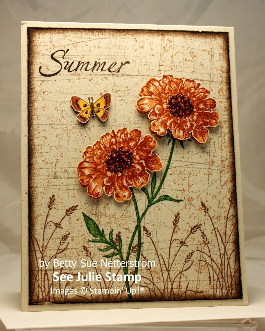 Swap Cards In The Mail For Customers Flower Cards Stamped
