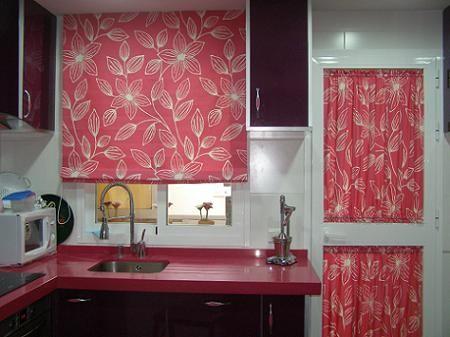 fotos de cortinas para cocina modernas