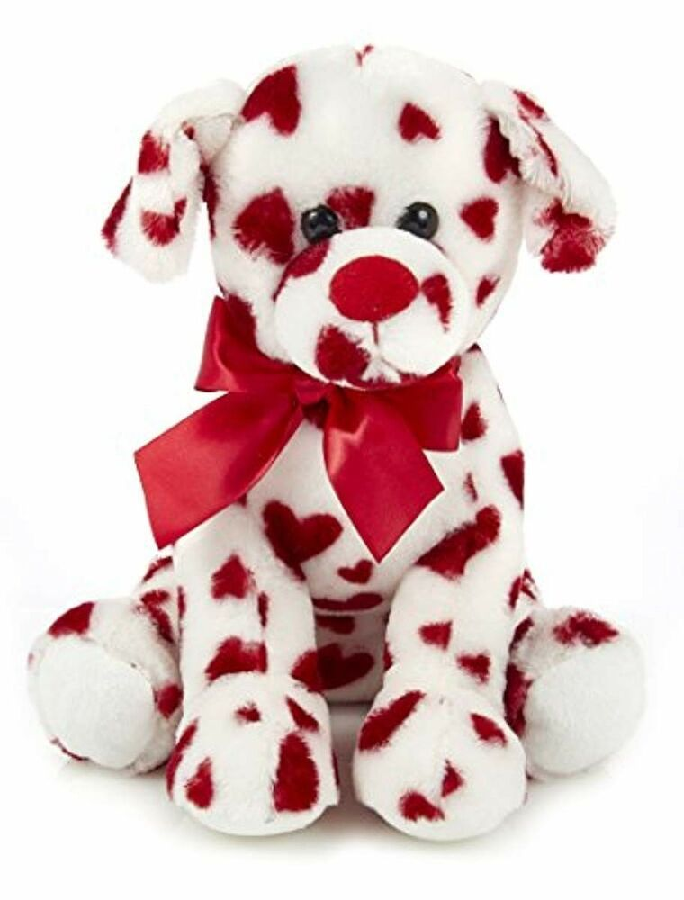 burton+BURTON 10-Inch Valentine Puppy with Red Rose
