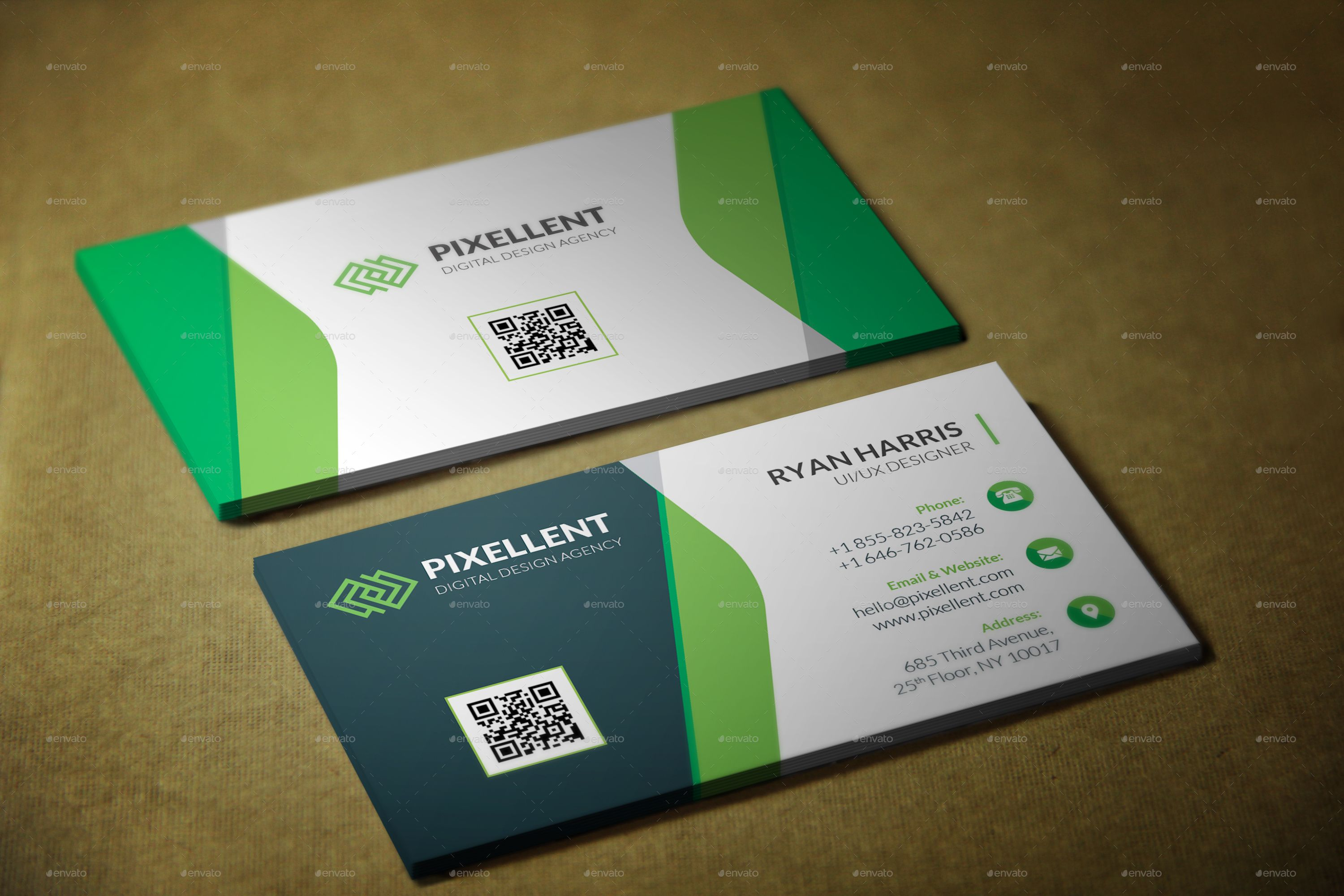 Corporate Business Card Template With