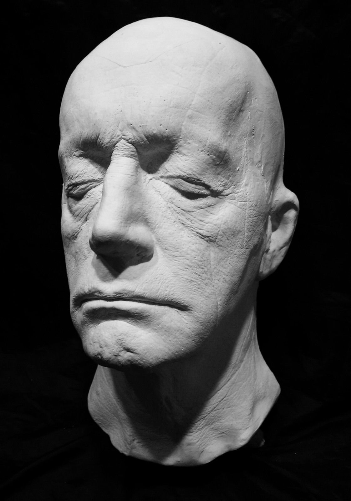 Lance Henrikson Life Mask Life Cast in Hydrocal Plaster