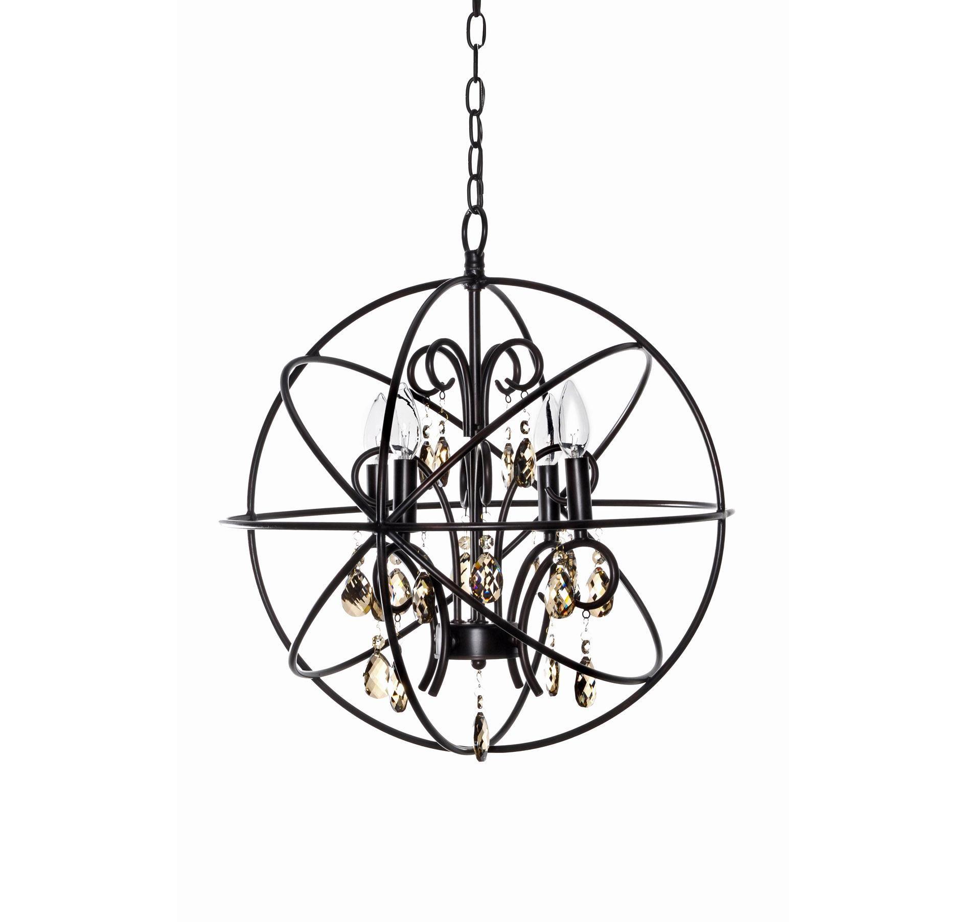Maxim Lighting Orbit 4 Light Chandelier Oil Rubbed Bronze
