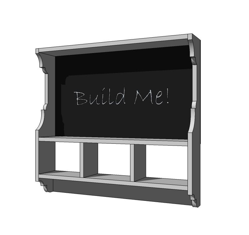Chalkboard Cubby Shelf | Cubby shelves, Diy furniture ...