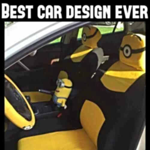 Minion Seat And Steering Wheel Covers For Your Car