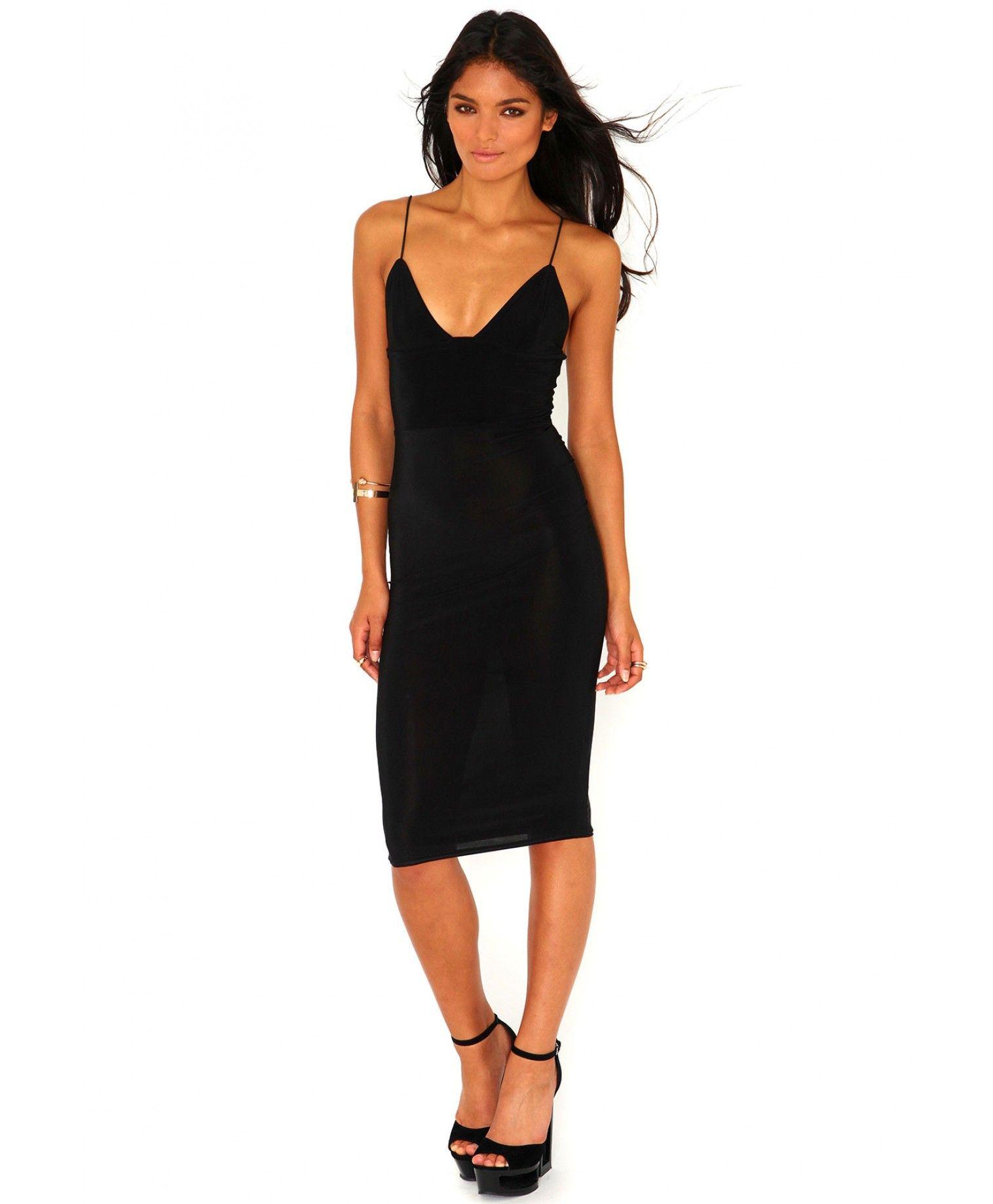 Elodia Slinky Strappy Midi Dress Dresses Missguided Dresses Black Strappy Dress Women Dress Online [ 1839 x 1516 Pixel ]