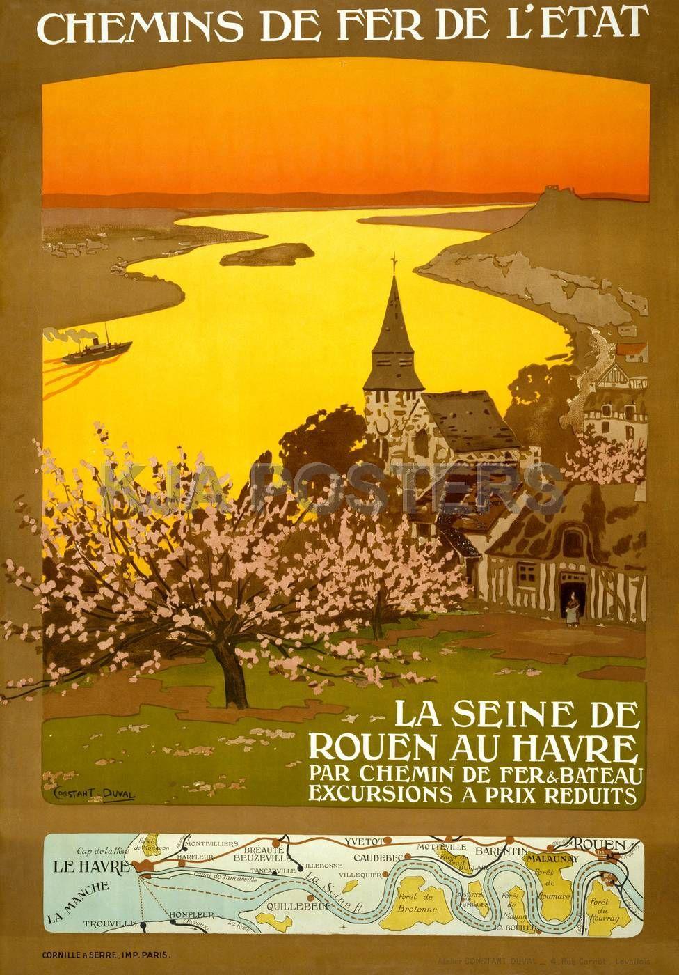 Rouen 2 Affiche chemin de fer Etat