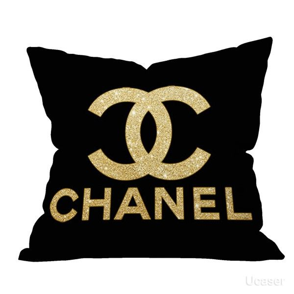 Gold Channel Logo Pillow Cases Wohnideen Dekoration