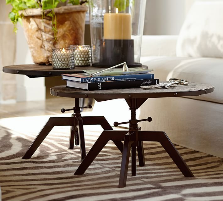 Blaine Reclaimed Wood Adjustable Bunching Coffee Table Kitchen
