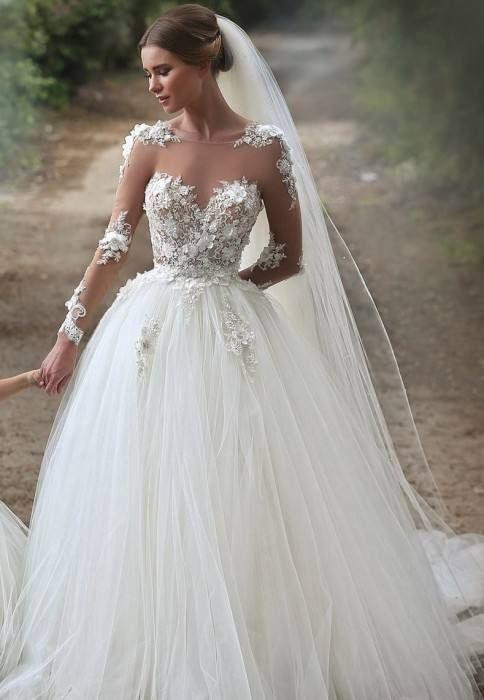 Hochzeitskleid Elegant - Brautkleider - Hochzeitsfrisuren - Inneneinrichtungen - Diamantmodelle #elegantweddinghairstyles