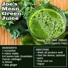 Joe's mean green juice- kids will drink if cut with Apple juice. Husband won't even try it.