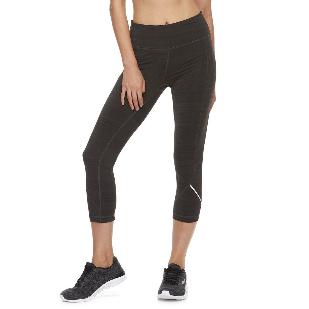 hot sales 8b014 a85dd Women s FILA Sport® Fleece Mid-Rise Capri Leggings, Size  Medium, Black