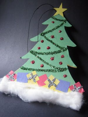 Construction Paper Christmas Tree Ornament Xmas Crafts Holiday Crafts Diy Christmas Crafts