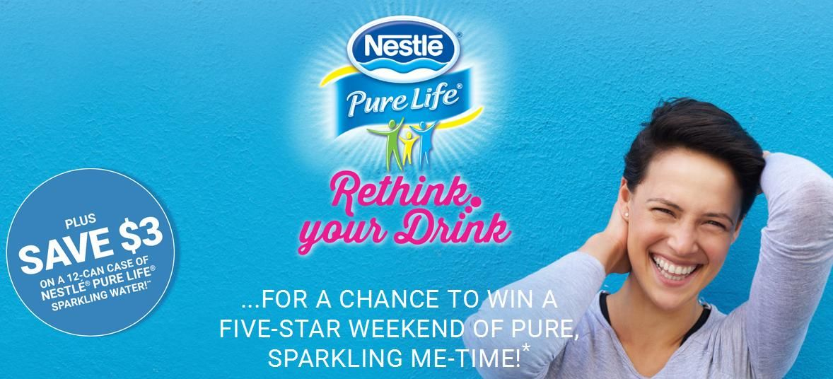 Save $3 On 12 Pack of Nestle Pure Life Sparkling Water