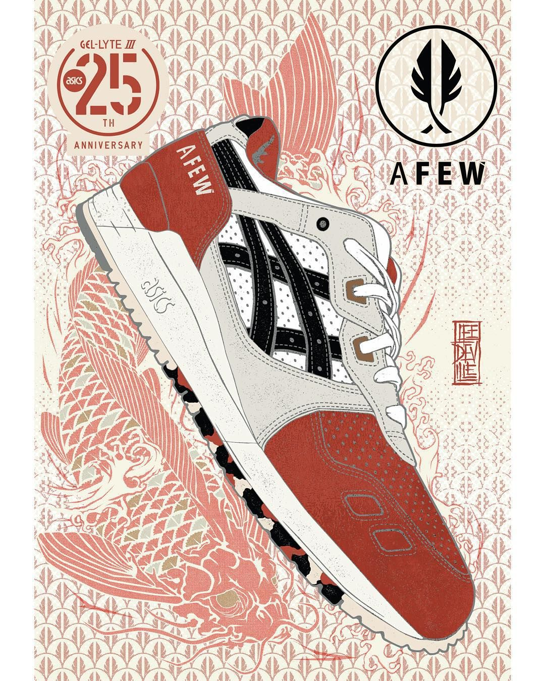 6a187b03e5ed Poster artwork celebrating the 25th anniversary  GelLyteIII collaborations  this year. Heres number 5 of 12 with our friends  afewstore (artwork by ...