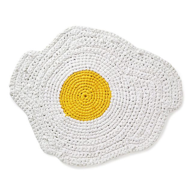 Egg Rugg, A Hand-Crocheted Rug That Looks Like a Fried Egg ...