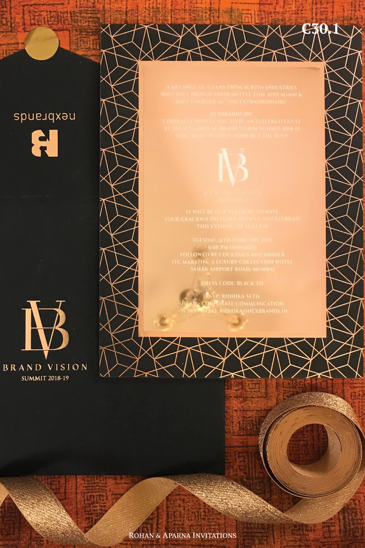 Mirror invitation collection in a rose gold crystal pattern. For more  design ideas,… | Wedding invitation companies, Modern wedding invitations,  Hindu wedding cards