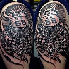 Image result for route 66 tattoo tatuajes pinterest for Tattoo shops topeka ks