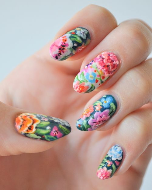 Amazing Nailpolis.com | Garden Nails By Tiffany Blue