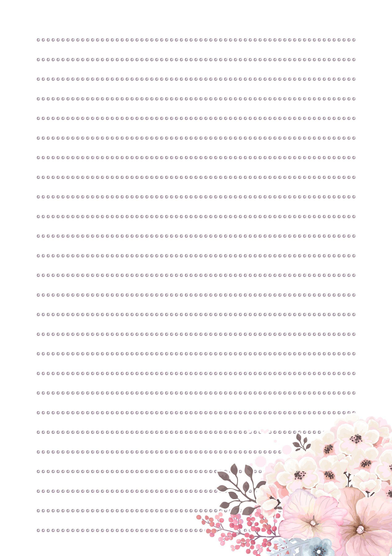 Hoja De Raya Con Flores Para Escrobor Papeles De Carta Y Marcos