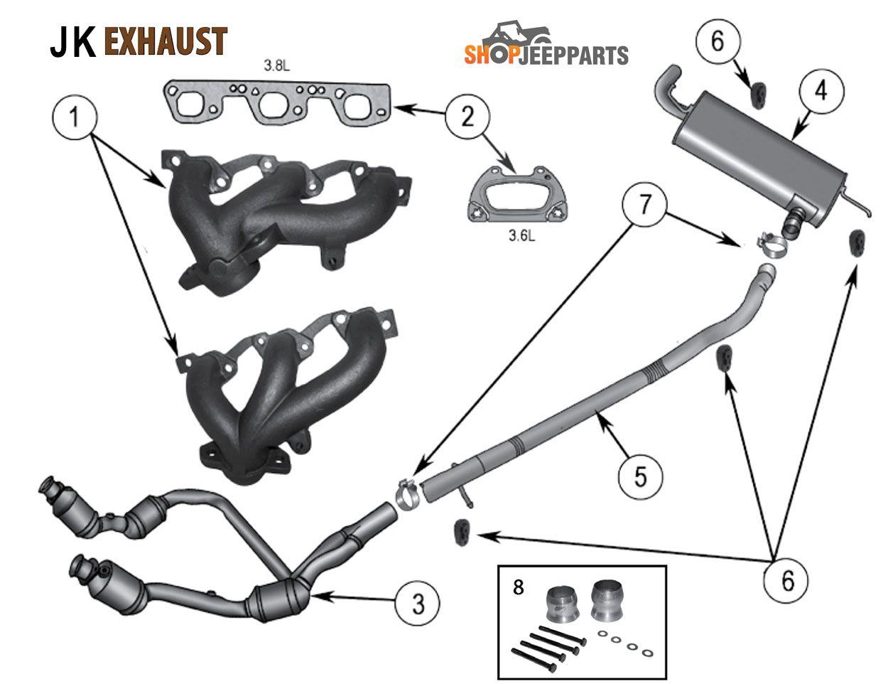 Jeep Jk Wrangler Exhaust Parts Diagram Wrangler Jk Jeep Jk Wrangler