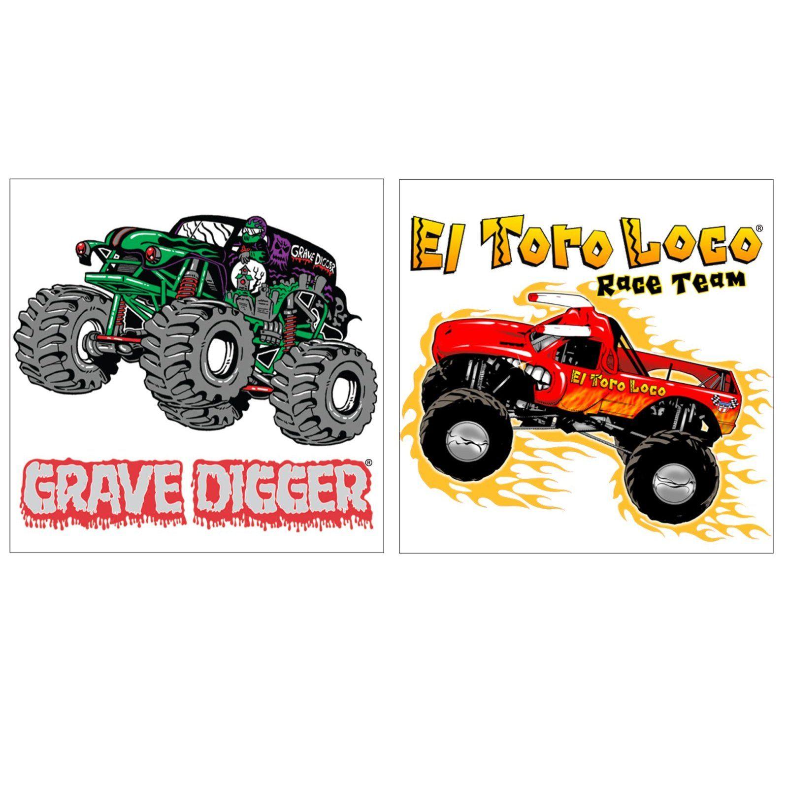 Monster Jam 3D Tattoos, 87224 Kids birthday supplies