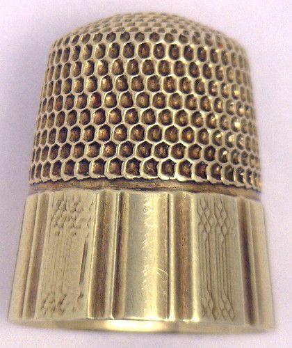 Mint Antique Victorian 14k Yellow Gold Thimble Beautiful Patina | eBay