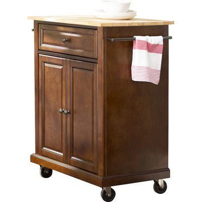 Kuhnhenn Kitchen Cart With Wood Top Kitchen Cart Kitchen Island With Granite Top Traditional Furniture
