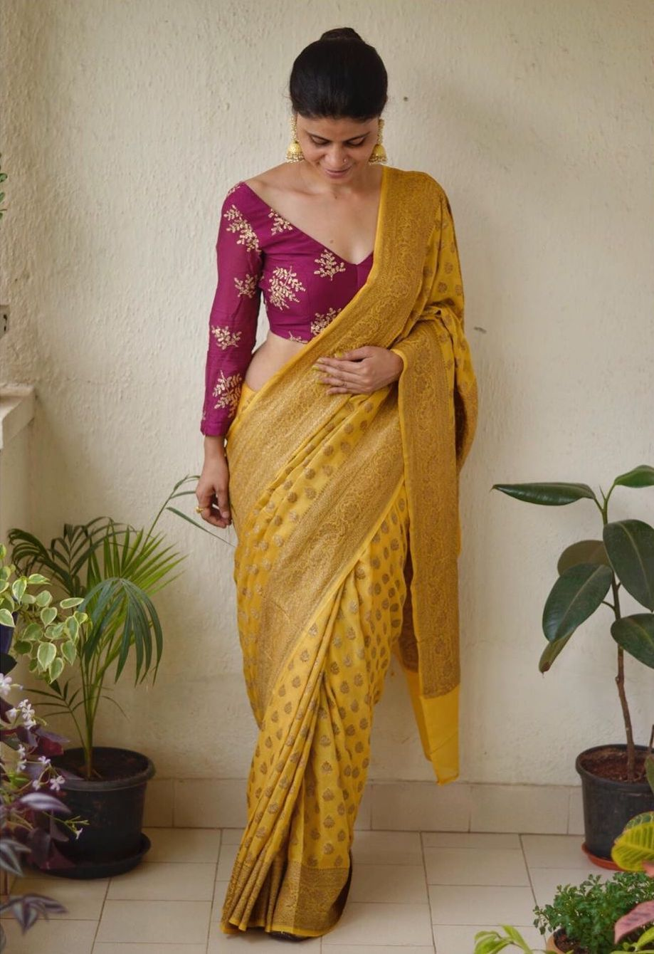 Chakori Ethnic Chanderi Saree - Frugal2Fab