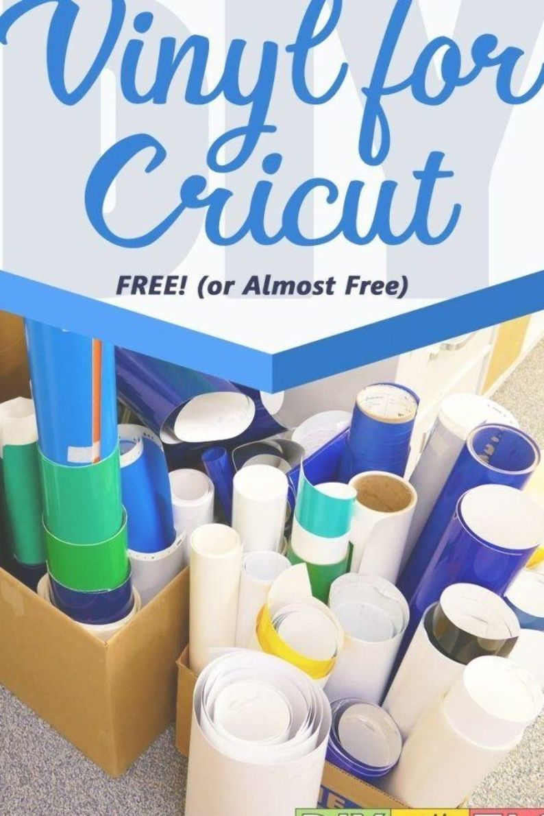 Learn how you can get vinyl for Cricut projects for FREE or nearly free! | #diy #cricut #vinyl #silhouette #vinyl_for_cricut #cricut_explore #cricut_maker #cricut_projects #cheap_vinyl #cricutvinylprojects