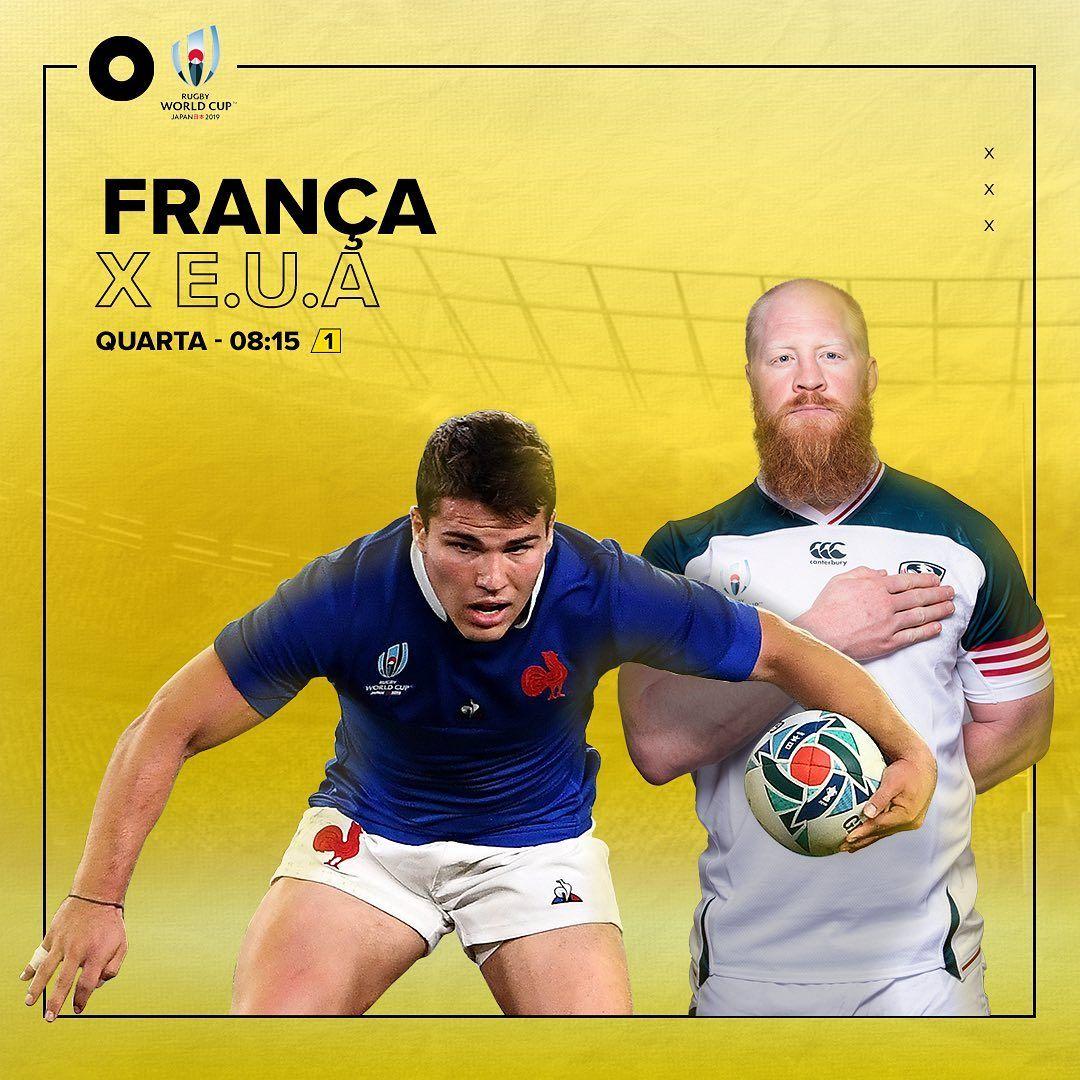 O rugbyworldcup não para. Não perca, na manhã de quarta