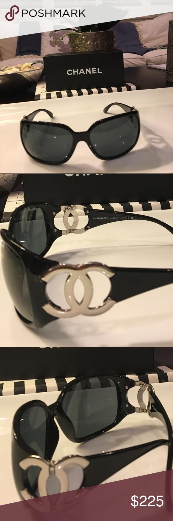 e8ad06e40879 Chanel Sunglasses Chanel Sunglasses with signature C logo in silver on  sides. CHANEL Accessories Sunglasses