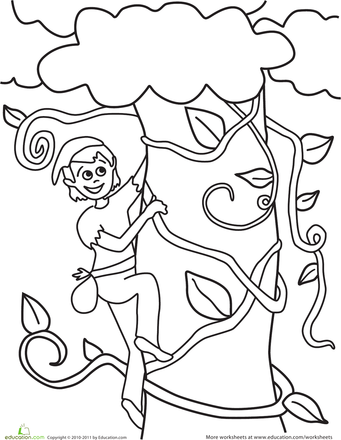 Jack and the Beanstalk Coloring Page | Summer Camp Classes ...