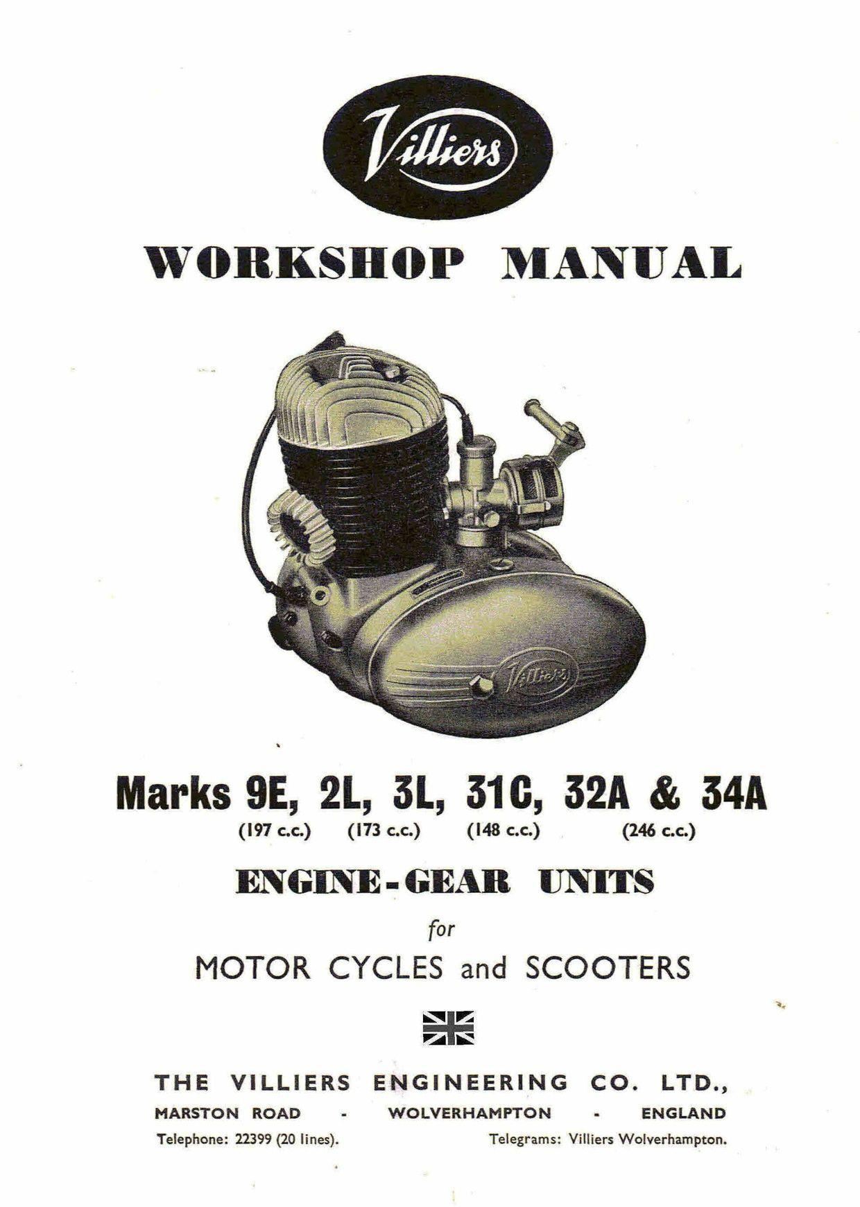 villiers 9e 2l 3l 31c 32a 34a workshop service and repair manual rh pinterest com villiers 98cc engine manual villiers c12 engine manual