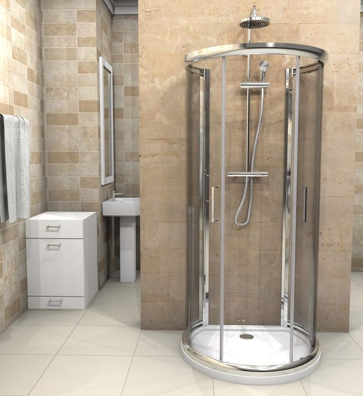 D Shaped Shower Enclosure 900mm X 770mm One Wall Quadrant Shower Cubicle Jt Spas Shower Cubicles Shower Enclosure Glass Shower