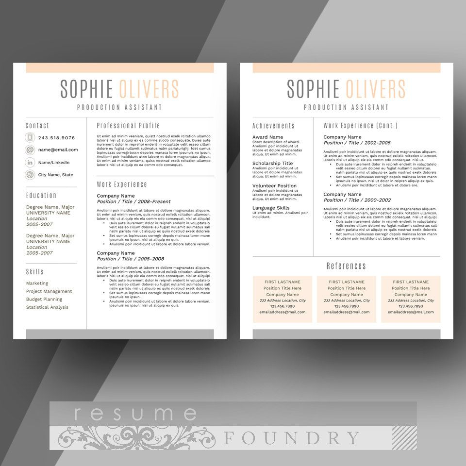 stylish and modern resume template the sophie products